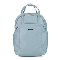Damski plecak z nylonu, jasny niebieski, 92-4Y-103-7, Zdjęcie 1
