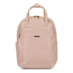 Damski plecak z nylonu, jasny beż, 92-4Y-103-9, Zdjęcie 1