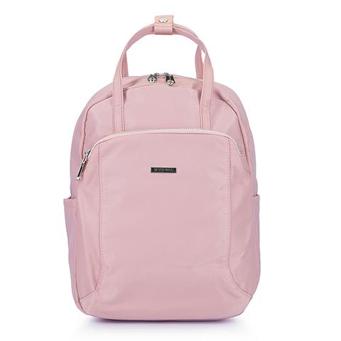Damski plecak z nylonu, jasny róż, 92-4Y-103-1, Zdjęcie 1