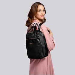 Damski plecak z nylonu, czarny, 92-4Y-103-1, Zdjęcie 1
