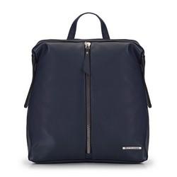 Damski plecak z przednią kieszenią i suwakiem, -, 93-4Y-913-N, Zdjęcie 1