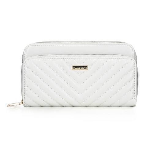Women's quilted wallet, white, 92-1Y-576-1, Photo 1