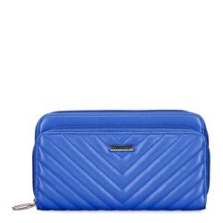 Damski portfel dwukomorowy pikowany, niebieski, 92-1Y-576-7, Zdjęcie 1