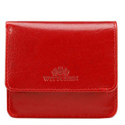 Damski portfel skórzany mini, czerwony, 14-2-003-3, Zdjęcie 1