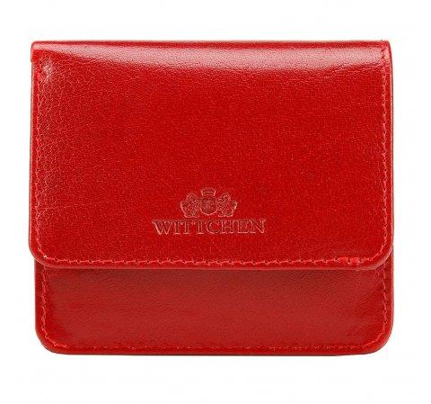 Damski portfel skórzany mini, czerwony, 14-2-003-1, Zdjęcie 1