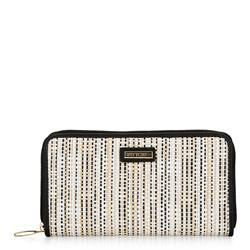 Women's woven effect wallet, black, 92-1Y-560-1, Photo 1