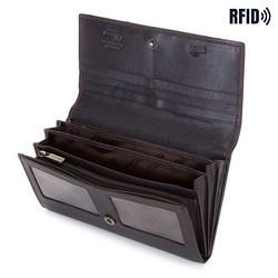 Damski portfel skórzany o prostym kroju, brązowy, 14-1-052-L41, Zdjęcie 1