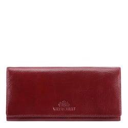 Damski portfel ze skóry duży, wiśniowy, 21-1-333-30, Zdjęcie 1