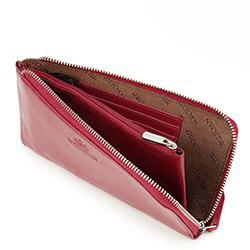 Damski portfel ze skóry duży z uchwytem, czerwony, 21-1-444-3, Zdjęcie 1