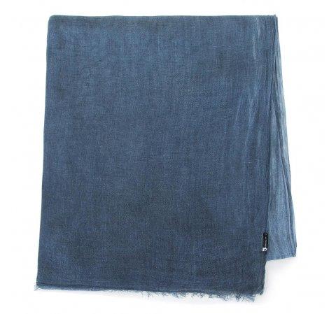Damski szal z wiskozy jednokolorowy, niebieski, 84-7D-X05-P, Zdjęcie 1