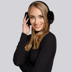 Women's earmuffs, black, 93-HF-001-1, Photo 1