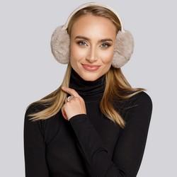 Women's earmuffs, beige - silver, 93-HF-001-9, Photo 1