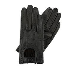 Damskie rękawiczki skórzane samochodowe, czarny, 46-6L-292-1-X, Zdjęcie 1