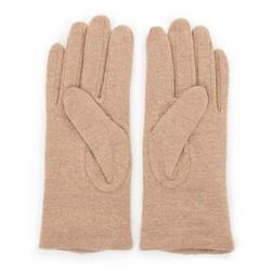Damskie rękawiczki wełniane z rozetką, beżowo - srebrny, 47-6-X90-5-U, Zdjęcie 1