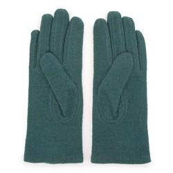 Damskie rękawiczki wełniane z rozetką, zielony, 47-6-X90-Z-U, Zdjęcie 1