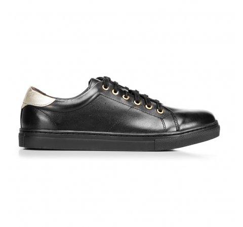 Damskie skórzane sneakersy klasyczne, czarny, 92-D-350-1-37, Zdjęcie 1