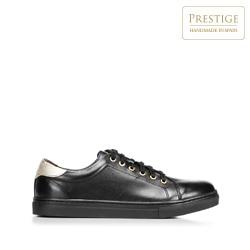 Damskie skórzane sneakersy klasyczne, czarny, 92-D-350-1-41, Zdjęcie 1