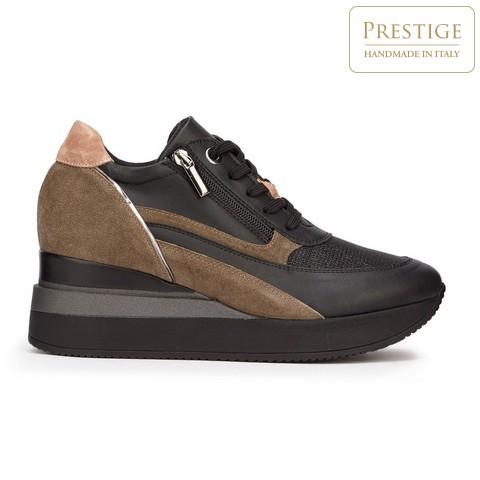Damskie sneakersy zamszowe z suwakiem, czarny, 93-D-655-X1-39, Zdjęcie 1