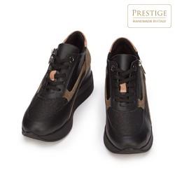Damskie sneakersy zamszowe z suwakiem, czarny, 93-D-655-X1-35, Zdjęcie 1