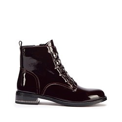 Shoes, burgundy, 93-D-953-3-38, Photo 1