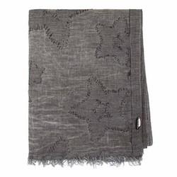 Duża chusta z bawełny, szary, 91-7D-X20-8, Zdjęcie 1