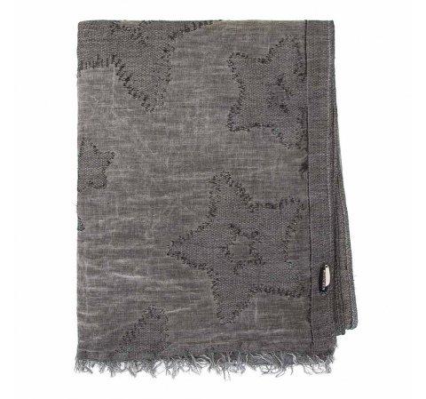 Duża chusta z bawełny, szary, 91-7D-X20-O, Zdjęcie 1