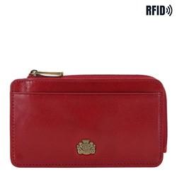skórzane etui na karty kredytowe, czerwony, 10-2-290-3L, Zdjęcie 1