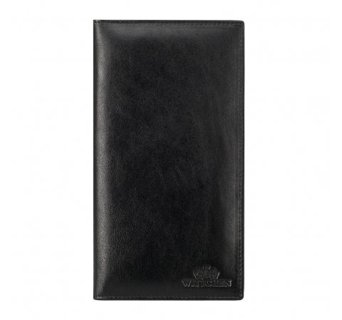 Etui na paszport ze skóry proste, czarny, 14-2-200-L1, Zdjęcie 1