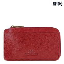 Skórzane etui na karty kredytowe, czerwony, 21-2-290-3L, Zdjęcie 1