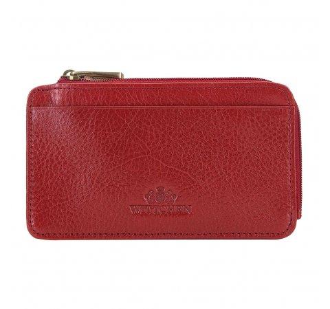 Skórzane etui na karty kredytowe, czerwony, 21-2-290-YL, Zdjęcie 1