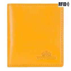 Etui na karty skórzane klasyczne, żółty, 21-2-291-YL, Zdjęcie 1