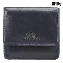 Women's leather compact wallet, dark navy blue, 26-2-443-N, Photo 1