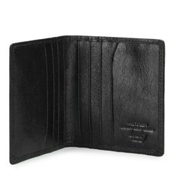 Etui na karty kredytowe skórzane, czarny, 02-2-291-1L, Zdjęcie 1