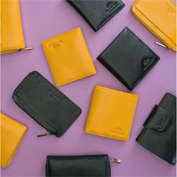 Etui na karty kredytowe skórzane na zamek, czarny, 21-2-290-1L, Zdjęcie 1