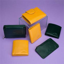 Etui na karty kredytowe skórzane na zamek, zielony, 21-2-290-ZL, Zdjęcie 1
