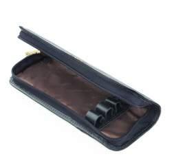 Etui na długopisy skórzane z herbem, granatowy, 10-2-001-N, Zdjęcie 1