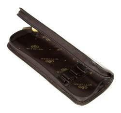 Etui na długopisy, ciemny brąz, 02-2-001-4, Zdjęcie 1