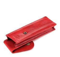 Etui na długopisy skórzane z herbem, czerwony, 10-2-169-3, Zdjęcie 1