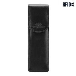 Leather classic pen case, black, 14-2-169-L11, Photo 1