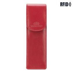 Etui na długopisy skórzane klasyczne, czerwony, 14-2-169-L91, Zdjęcie 1