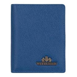 Damskie etui na dokumenty ze skóry kolorowe, niebieski, 13-2-163-RN, Zdjęcie 1