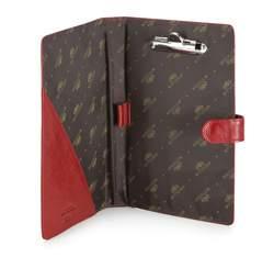 Podkładka pod dokumenty skórzana z klipsem i okładką, czerwony, 21-2-004-3, Zdjęcie 1