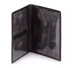 Etui na dokumenty skórzane pionowe, czarny, 21-2-163-1, Zdjęcie 1