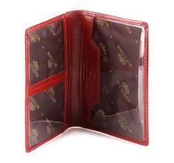 Etui na dokumenty skórzane pionowe, czerwony, 21-2-163-3, Zdjęcie 1