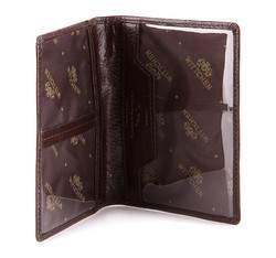 Etui na dokumenty skórzane pionowe, brązowy, 21-2-163-4, Zdjęcie 1