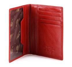 Etui na dokumenty skórzane z kieszenią, czerwony, 21-2-174-3, Zdjęcie 1