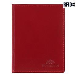 Etui na dokumenty skórzane proste, czerwony, 14-2-163-L91, Zdjęcie 1