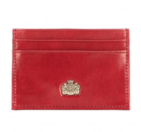 Etui na karty skórzane z herbem małe, czerwony, 10-2-038-3, Zdjęcie 1