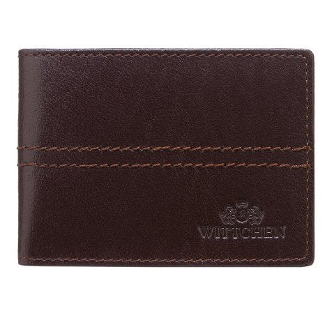 Etui na karty kredytowe, ciemny brąz, 14-2-118-4, Zdjęcie 1