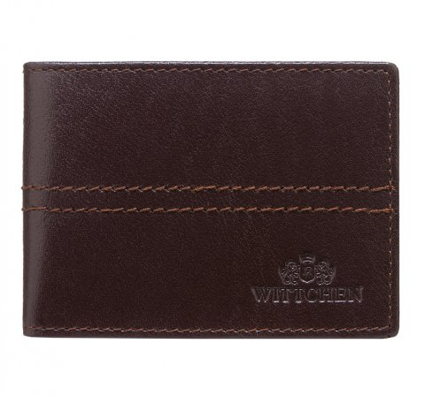 Etui na karty kredytowe, ciemny brąz, 14-2-118-L1, Zdjęcie 1
